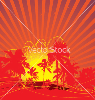 Free tropical rising sun vector - Free vector #270349