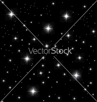 Free night sky vector - Free vector #270359
