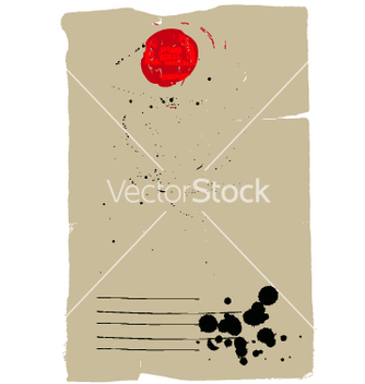 Free vintage letter with seal vector - бесплатный vector #270379