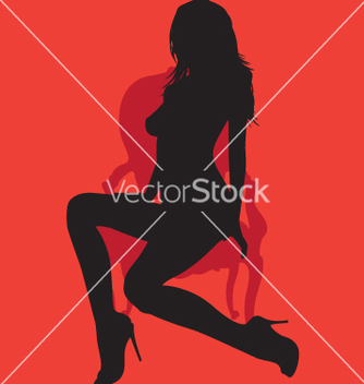 Free silhouette on antique chair vector - бесплатный vector #270409