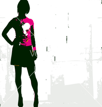 Free punk rock girl vector - Free vector #270429