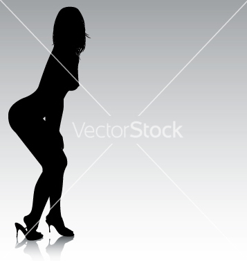 Free sexy silhouette bending over vector - vector gratuit #270459
