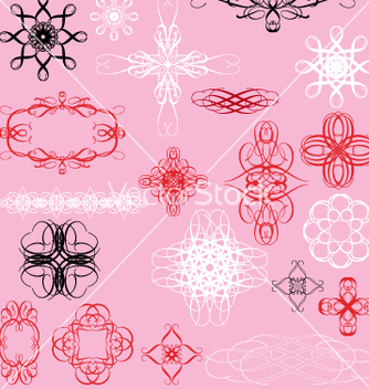 Free vintage decorative elements vector - Free vector #270489