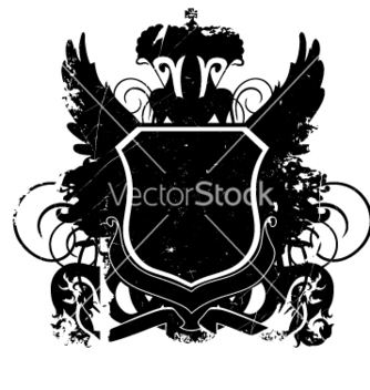 Free heraldry shield version 01 grunge vector - Free vector #270589