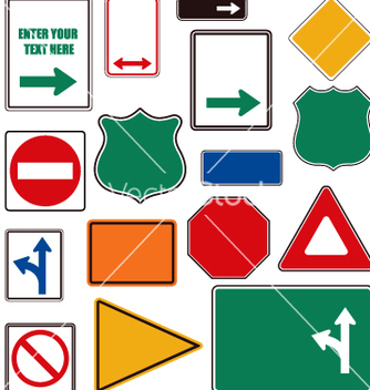 Free road signs vector - бесплатный vector #270639