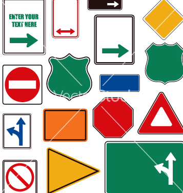 Free road signs vector - Free vector #270639