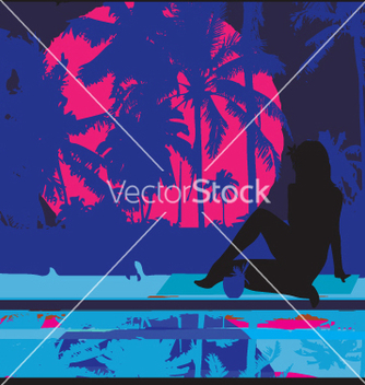 Free tropical nights vector - Free vector #270769