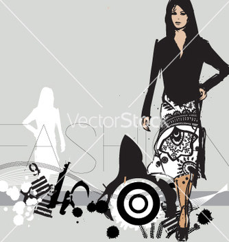 Free catwalk model vector - бесплатный vector #270779
