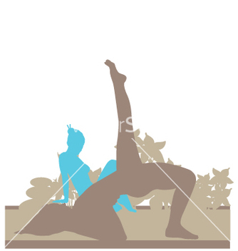 Free yoga with garden vector - бесплатный vector #270929