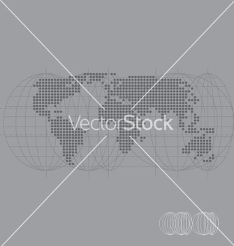 Free world map high tech vector - Free vector #270939
