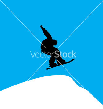 Free snowboarder backside grab vector - vector #271059 gratis