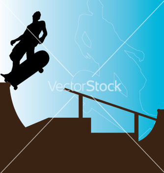 Free skater backside grind vector - Free vector #271079