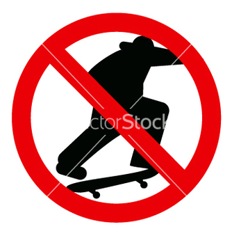 Free no skateboarding sign vector - Free vector #271159