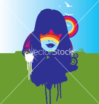 Free nature and the rainbow vector - Free vector #271169
