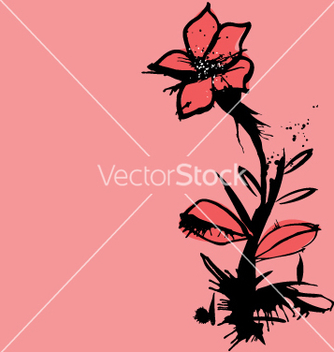 Free ink flower vector - бесплатный vector #271249