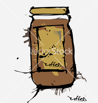 Free ink coffee jar vector - vector gratuit #271259