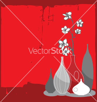 Free home interior and cherry blossom vector - Free vector #271279
