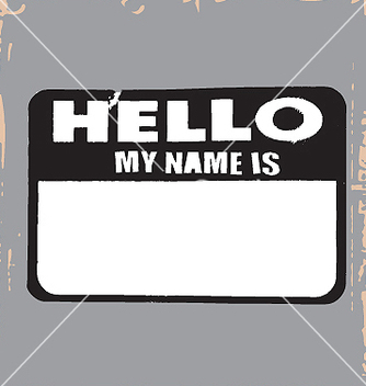 Free hello name tag vector - бесплатный vector #271309