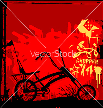 Free chopper bike vector - Free vector #271479