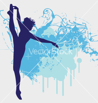 Free ballet dancer leg up vector - бесплатный vector #271529