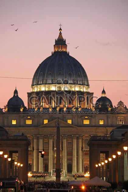 sunset view of the dome of Saint Peter - Free image #271639