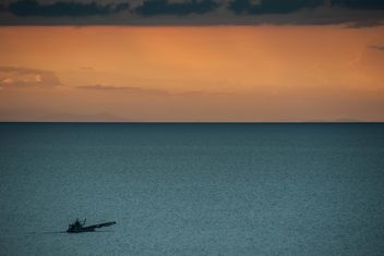 Fisherboat on a sea - image #271849 gratis