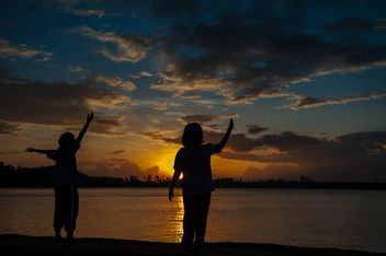 Silhouettes at sunset - Free image #271919