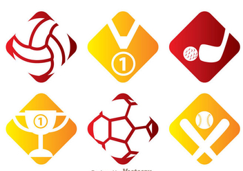 Sports Vector Icons - vector #272449 gratis