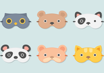 Sleep Mask Animal - бесплатный vector #272479
