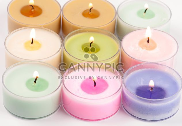 Colored candles on white background - Free image #272529