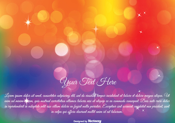 Colorful Abstract Bokeh Illustration - vector #272679 gratis