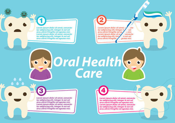 Oral Health Template Vector - vector #272729 gratis
