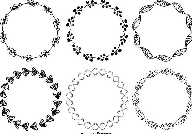 Cute Hand Drawn Style Frame Set - vector gratuit #272749