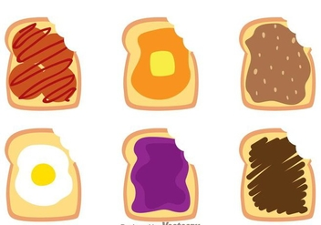 Toast Bread Bite Mark Vectors - vector #272769 gratis