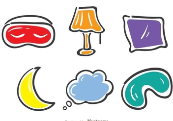 Sleep Colorful Icons - Free vector #272829