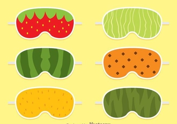 Fruit Sleep Mask - бесплатный vector #272839