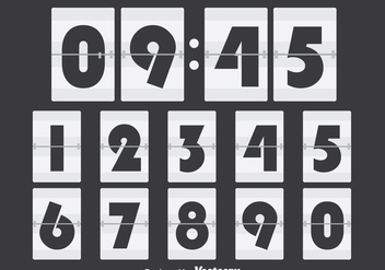 White Number Counter - бесплатный vector #272859