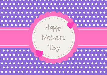 Happy Mother's Day Card - vector gratuit #272889