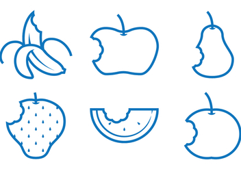 Fruit Bite Vectors - Free vector #273249