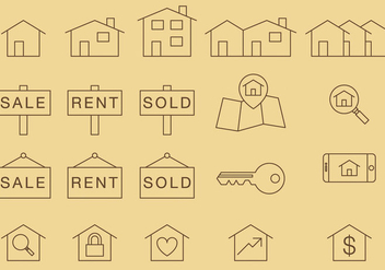 Home Thin Icons - Free vector #273269