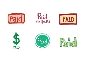 Free Paid Icon Vector Series - Free vector #273319