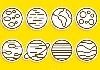 Planet Outline Icons - Free vector #273339