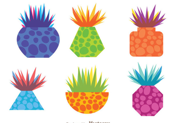 Funky Grass In A Pot - vector gratuit #273369