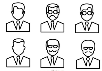 Man Outline Icons - Free vector #273399