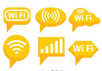 Orange Wifi Symbol - Free vector #273419
