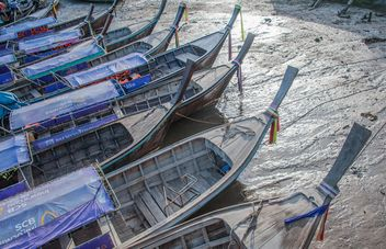 Fishing boats on sand - Free image #273529