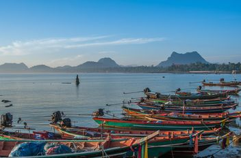 Fishing boats on berth - image #273599 gratis