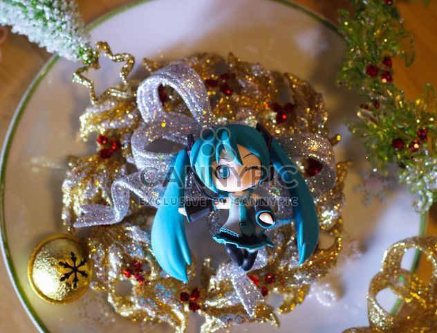 hatsune miku on christmas tinsel - Free image #273859