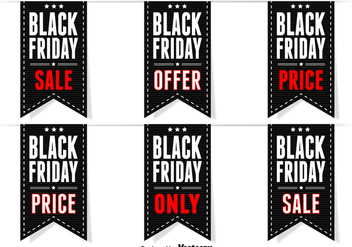 Black friday labels - vector gratuit #273989