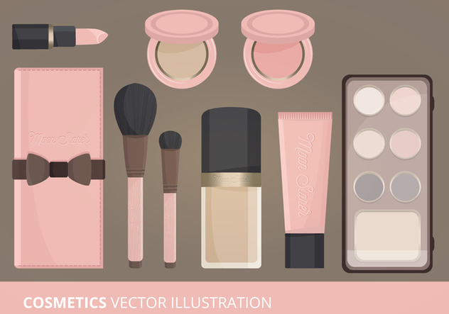 Kosmetik-Vektor-illustration - Kostenloses vector #274019
